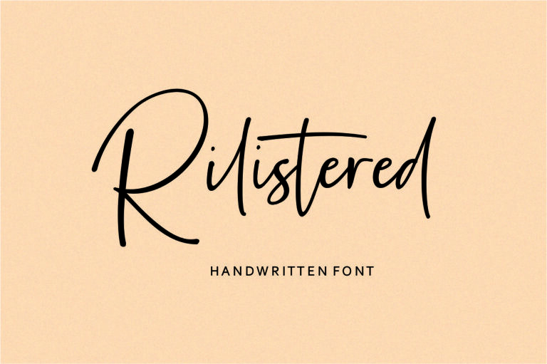 Rilistered - Handwritten Script Font