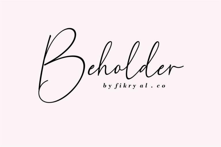 Beholder- Handwritten Script Font