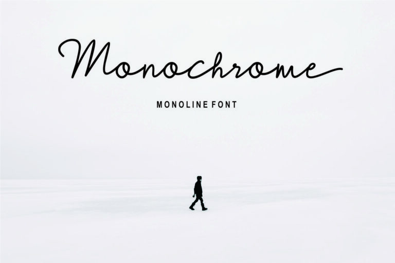 Monochrome - Monoline Script Font