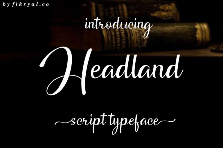Headland - Script Font