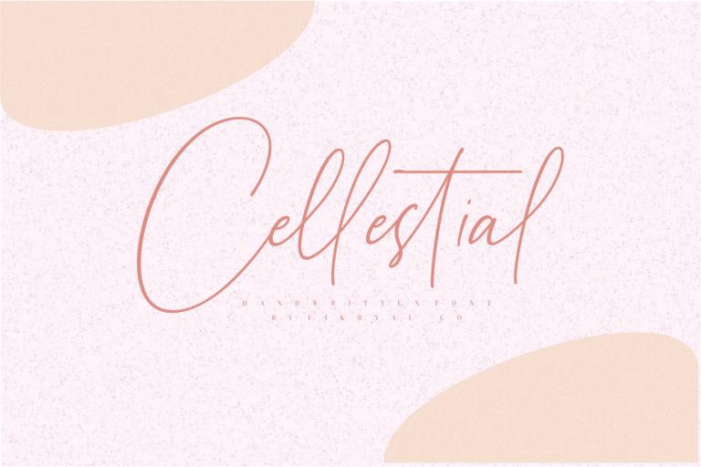 Cellestial- Handwritten Script Font