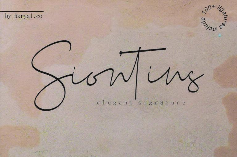 Siontins - Handwritten Script Font