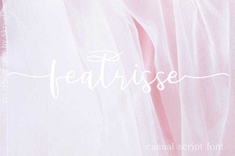 featrisse - Script Font
