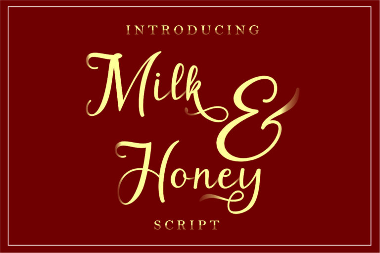 Milk&Honey - Script Font