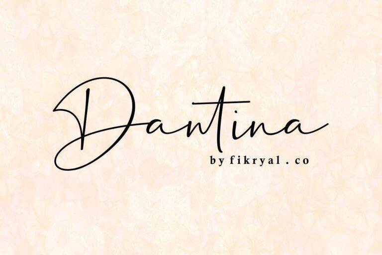 Dantina- Handwritten Script Font