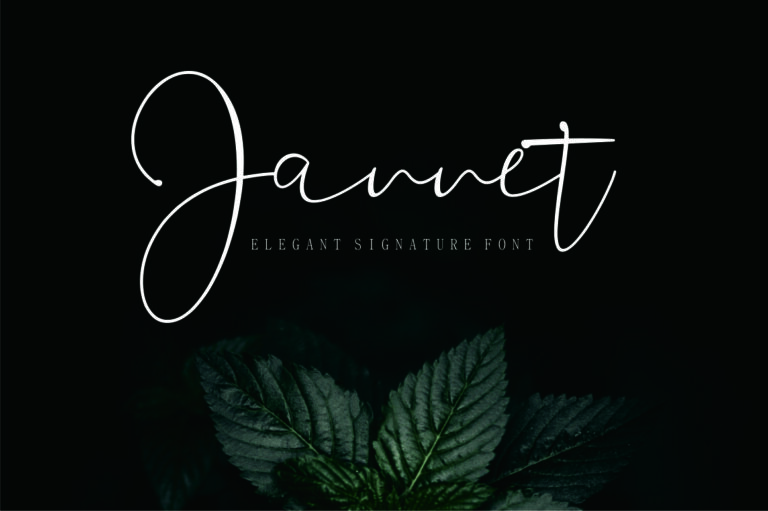 Preview image of Jannet – Signature font