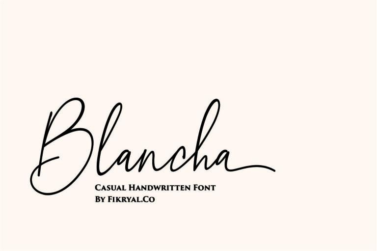Blancha- Handwritten Script Font