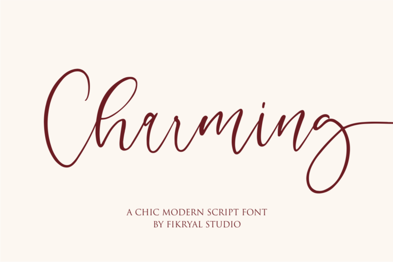 Charming - A Chic Modern Script Font