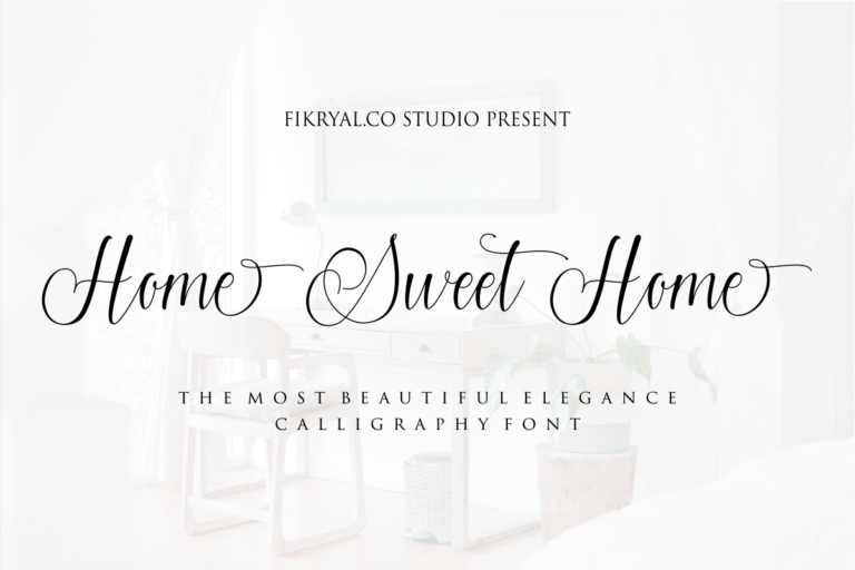 Home Sweet Home - Modern Calligraphy