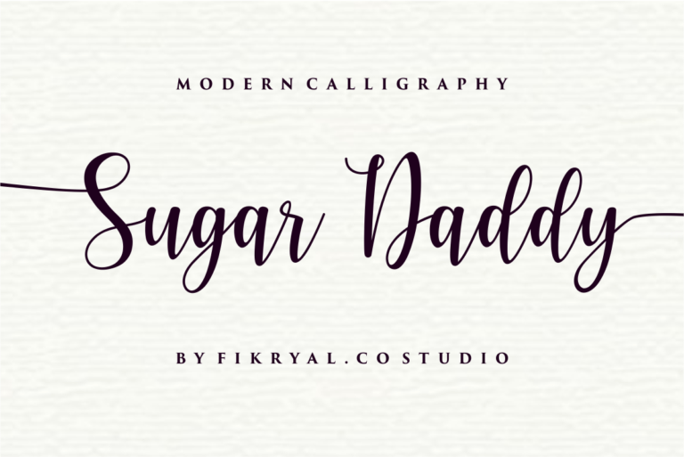 Preview image of Sugar Daddy – Modern Calligraphy