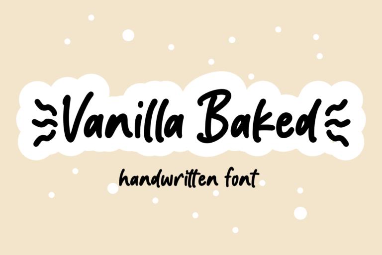 Vanilla Baked- Handwritten Display Font