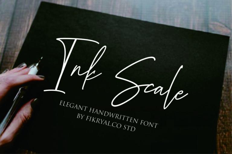 Ink Scale - Handwritten Script Font