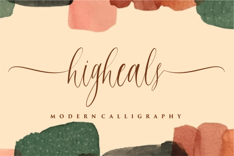 Preview image of Higheals – Modern Calligraphy
