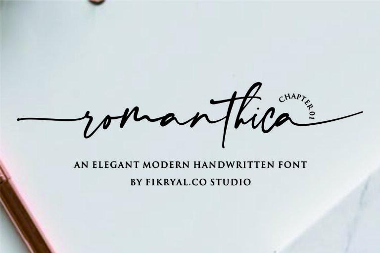romanthica - Handwritten Script Font