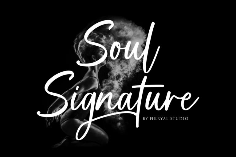 Soul Signature - Signature Font