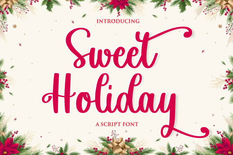 Sweet Holiday - Script Font