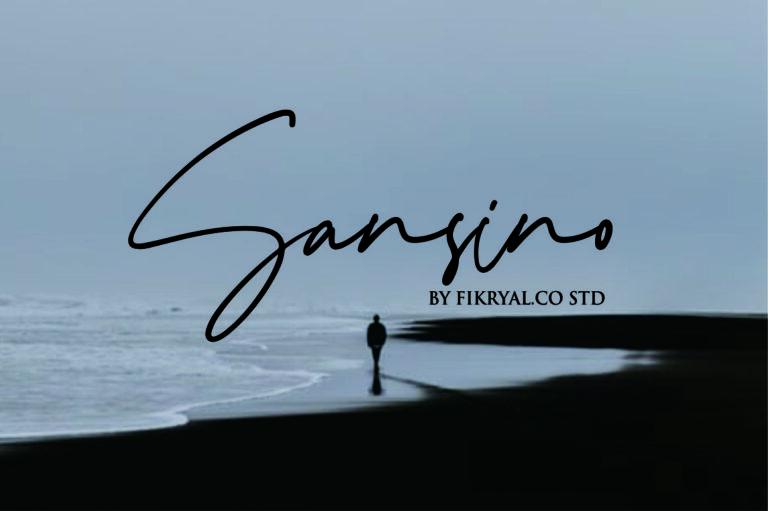 Sansino - Handwritten Script Font