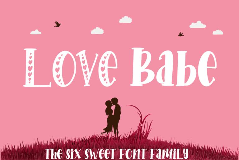 Love Babe - Display Font