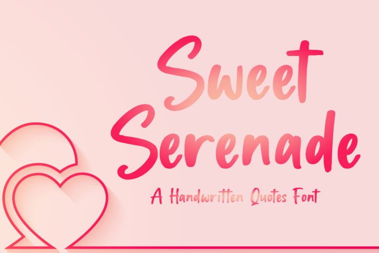 Sweet Serenade - Display Font