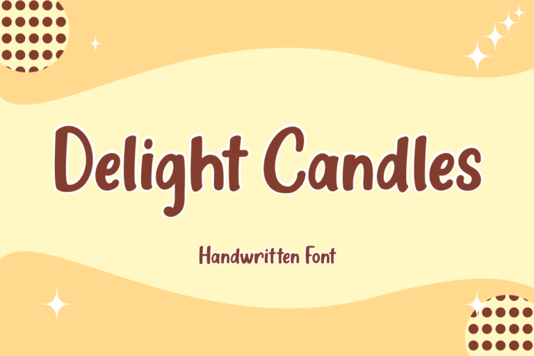Delight Candles - Handwritten Display Font