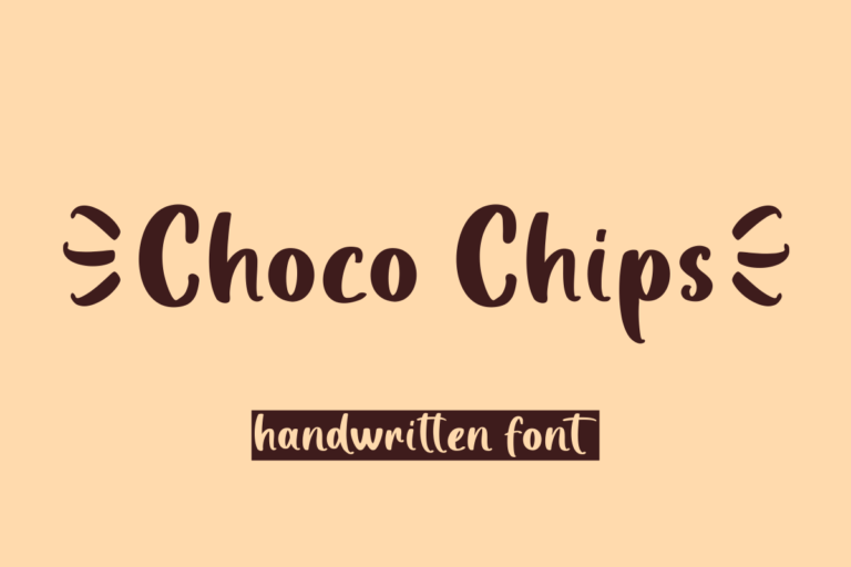 Choco Chips - Handwritten Display Font