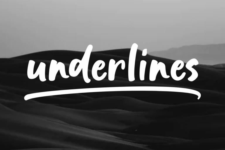 Underlines - Handwritten Bold Script Font