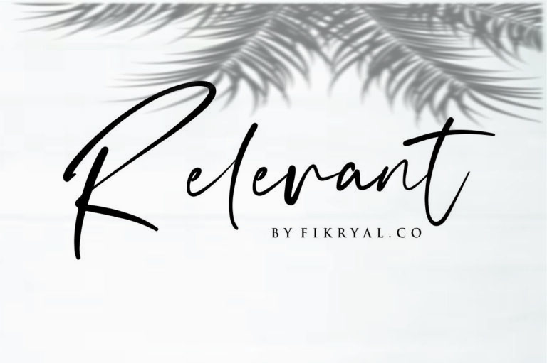 Relevant - Handwritten Script Font