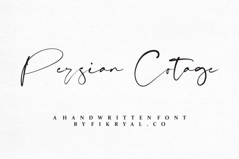 Persian Cotage - Handwritten Script Font