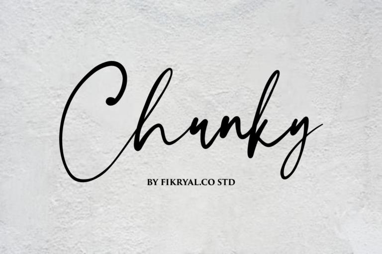 Chunky - Handwritten Script Font