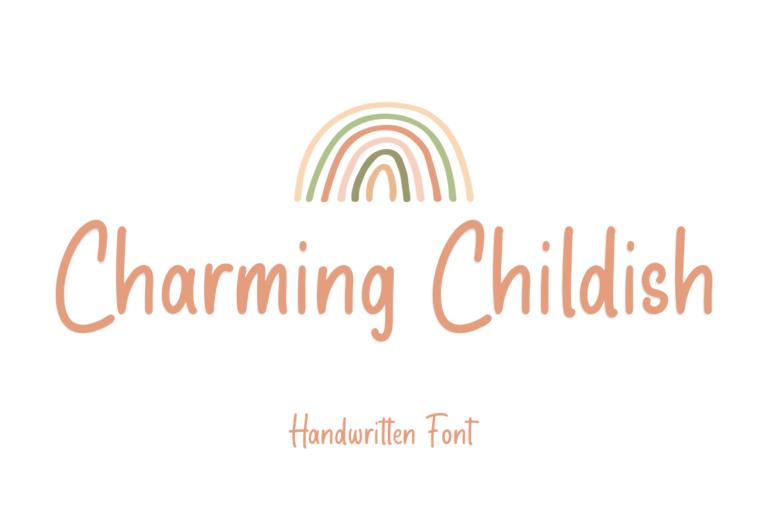 Charming Childish - Display Font