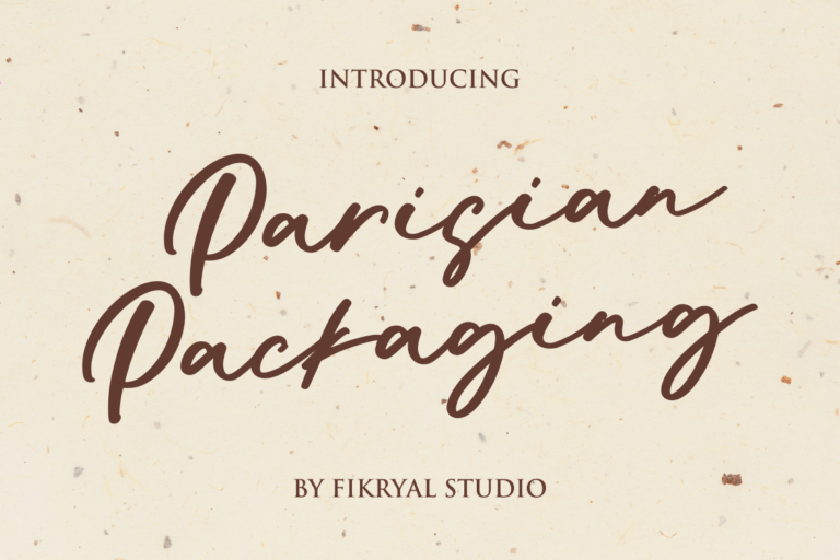 Parisian Packaging - Handwritten Font