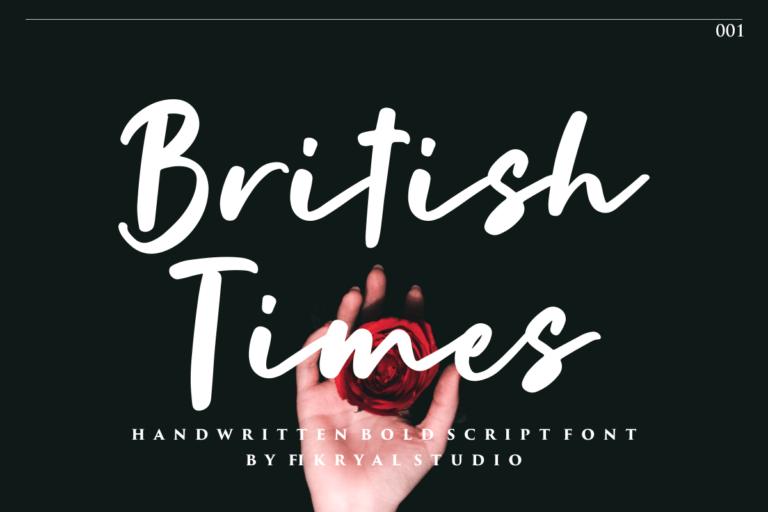 British Times - Handwritten Bold Script Font