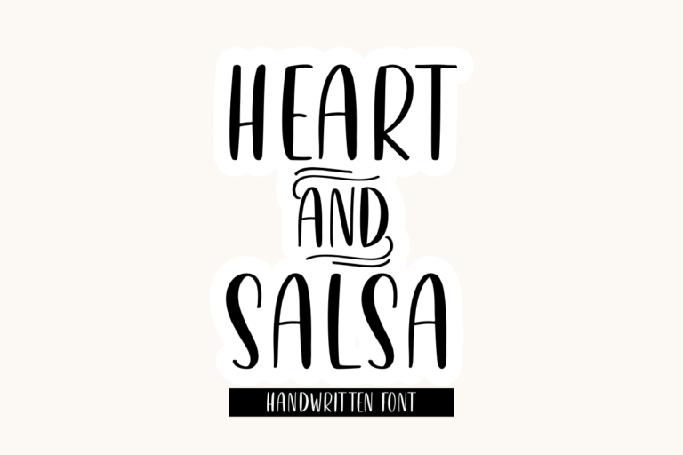 Heart & Salsa - Handwritten Display Font