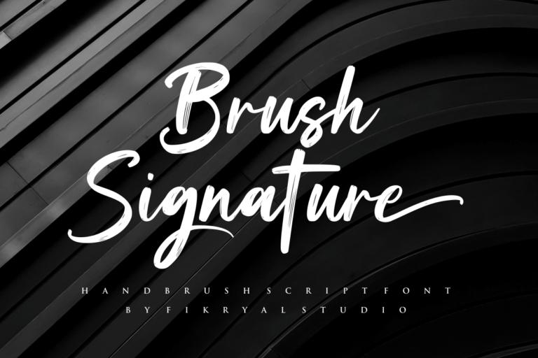 Brush Signature - Handbrush Script Font
