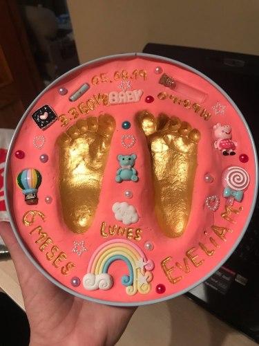 Vauvan jalanjälki-lahja photo review