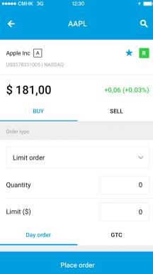 DEGIRO mobile trading app