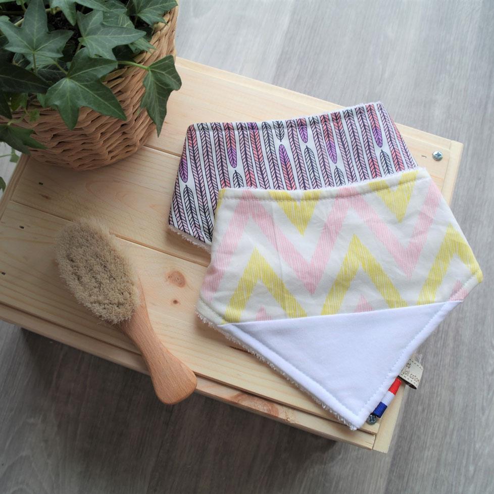bavoir bandana fil et du joli coton