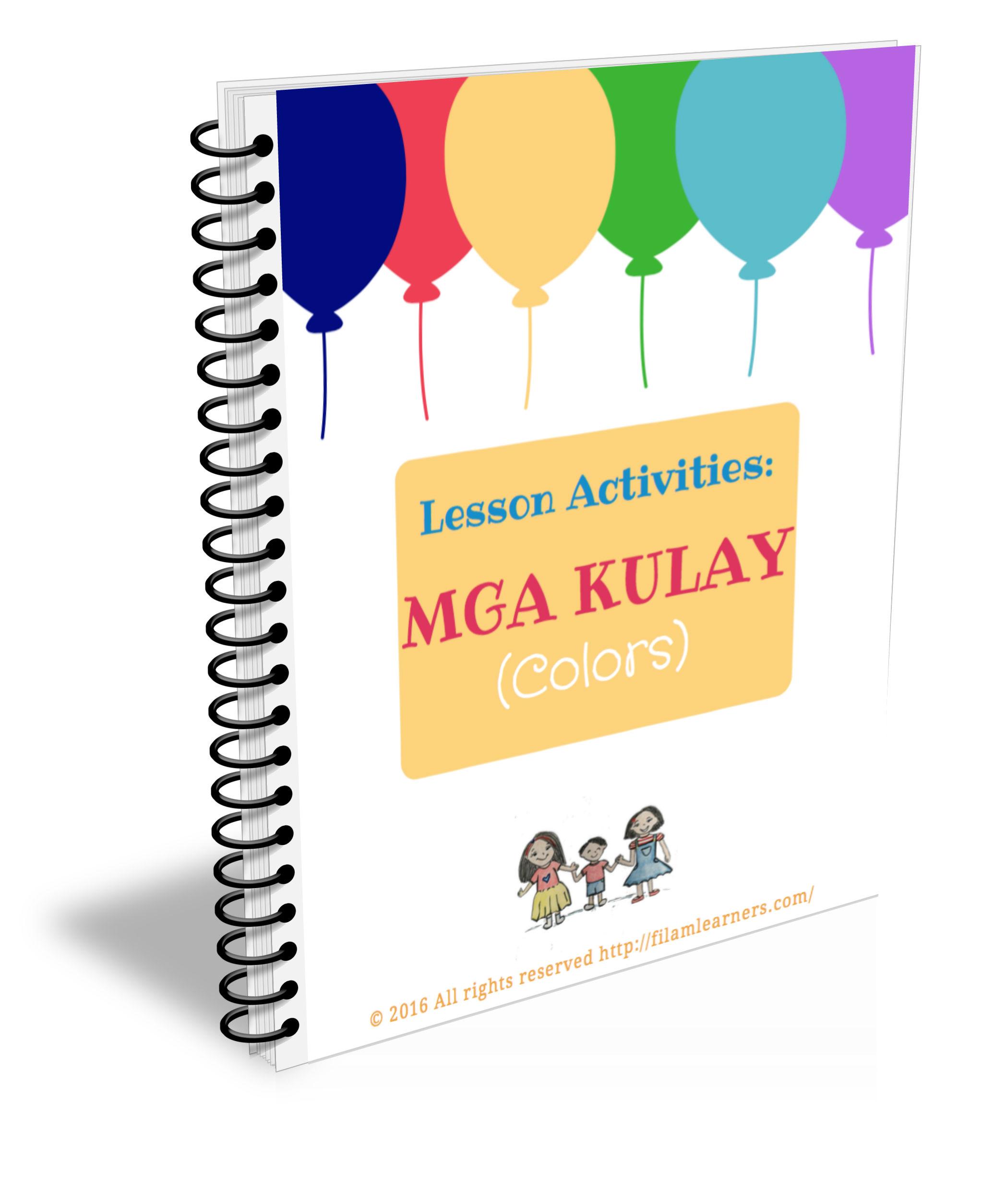 Tagalog Lesson Activities Mga Kulay Colors
