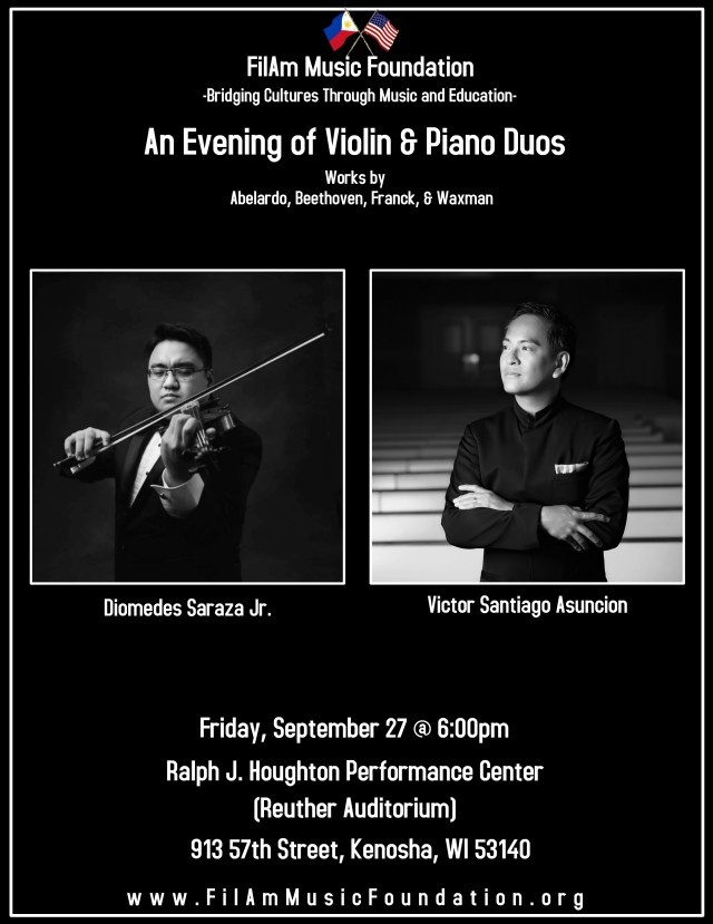 An Evening of Violin Piano Duos kenosha