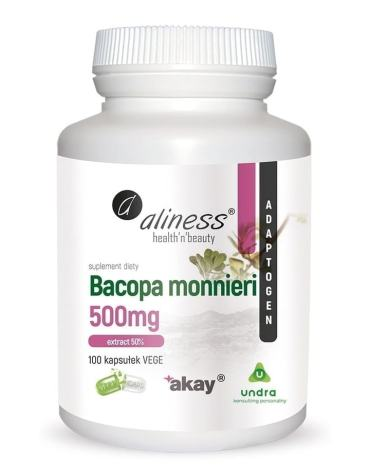 Bacopa monnieri extract 50% 100 Vege Caps Aliness