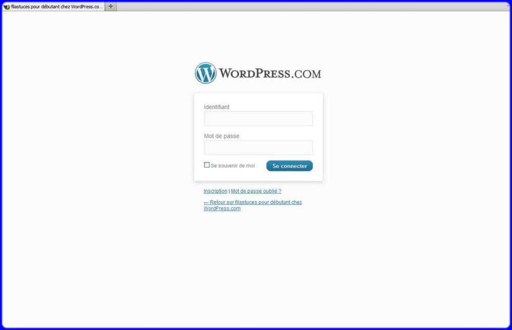 Comment se connecter sur son blog (1)