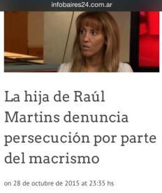 01 Lorena Martins denuncia persecuciones del PRO Macrismo