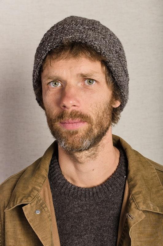 bonnet pure laine chiné