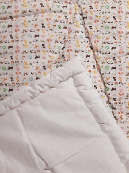 couette pure laine bébé imprimé 120 x 80 cadeau de naissance filature longomai chantemerle
