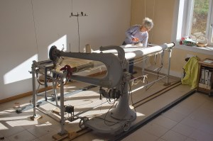 machine pour réaliser les couettes en laine