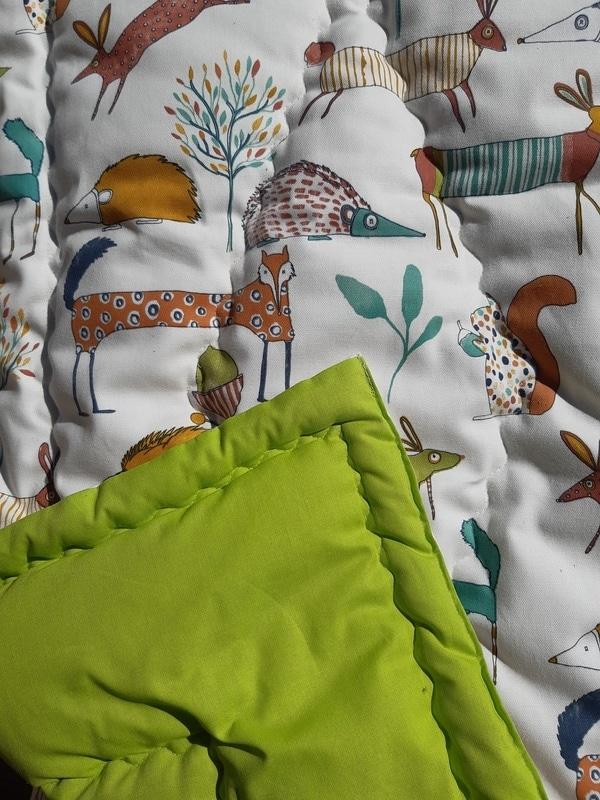 couette en laine bébé vert