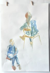 5-minute warm-ups in watercolour and watersoluble graphite