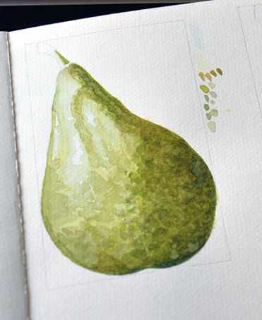 Pear-in-progress (Anna Mason Art)
