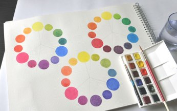 Three colour wheel variations