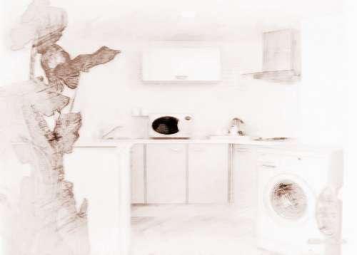 kitchen pots sinks houzz 洗衣机放厨房 风水_家居风水_祥安阁风水网